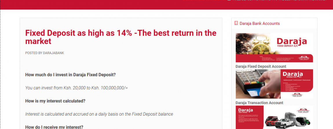 Daraja Micro-finance Bank