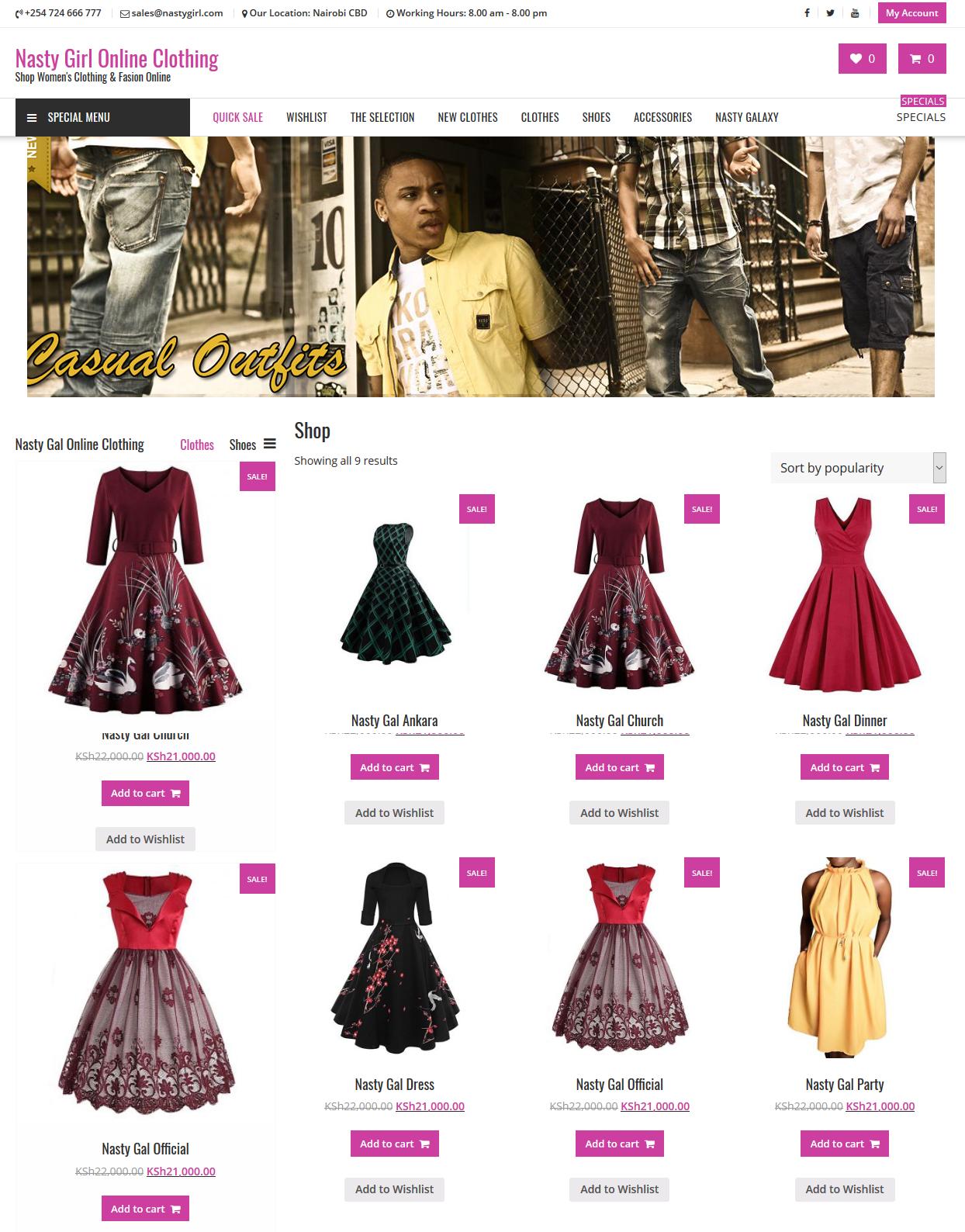Nasty Girl Online Shop
